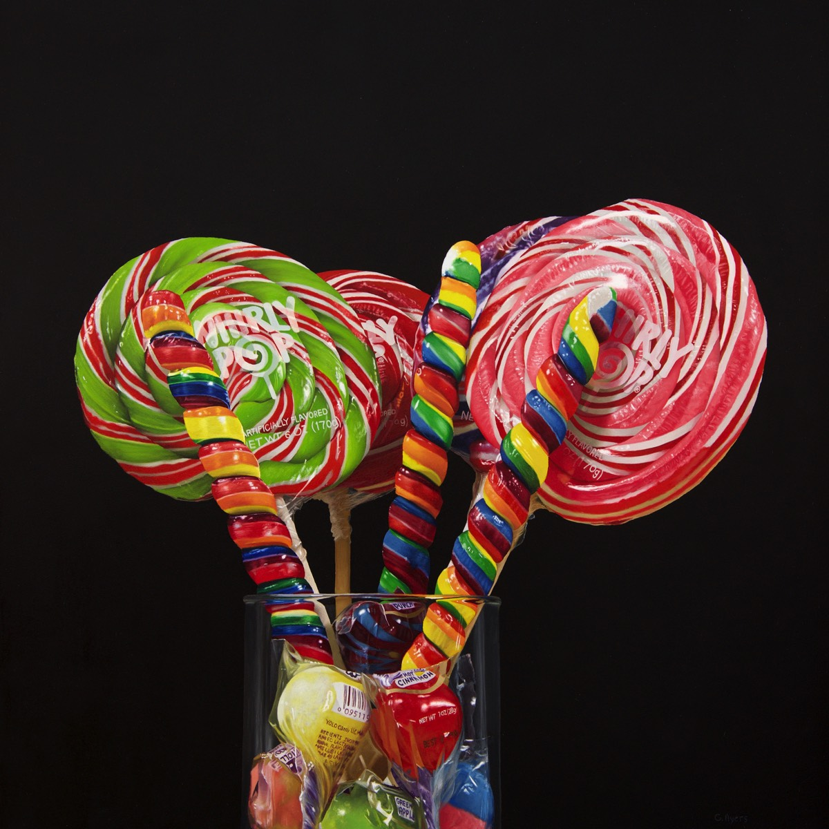 Whirly Pops - 16x16 - oil on panel